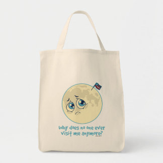 Sad Moon Tote Bag