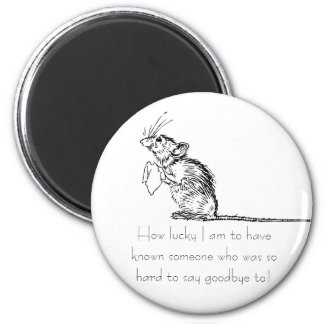 Sad Mouse Farewell Magnet