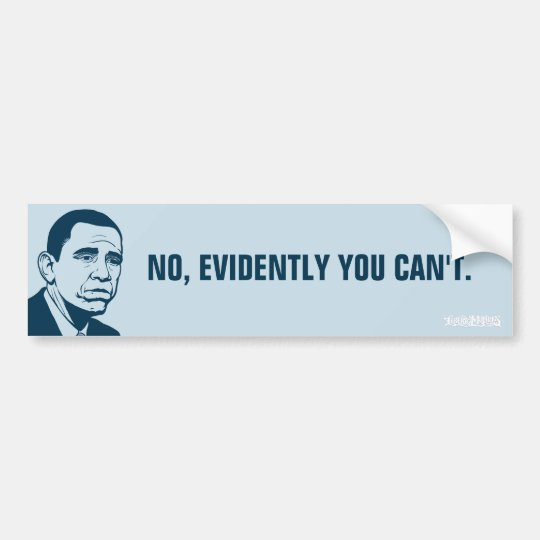 Sad Obama Customizable Bumper Sticker