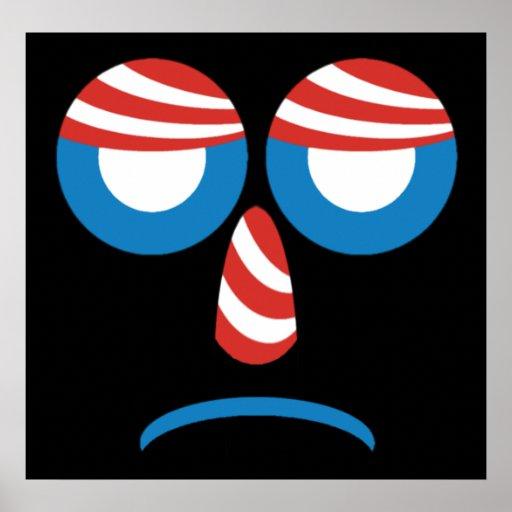 Sad Obama Logo Poster