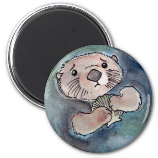 Sad Otter Magnet