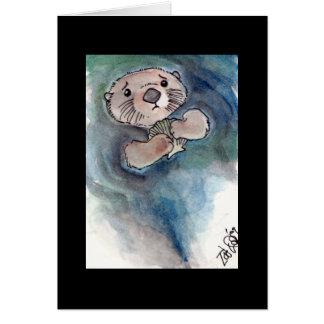 Sad Otter Notecard