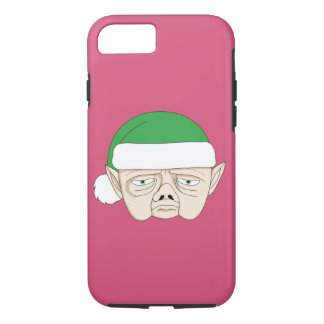 Sad, Overworked Christmas Elf iPhone 7 Case