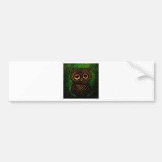 Sad owl eyes bumper sticker