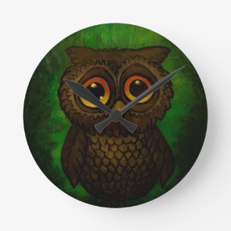Sad owl eyes clocks