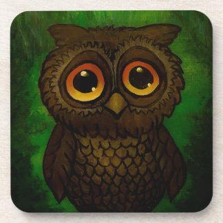 Sad owl eyes coaster