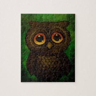 Sad owl eyes jigsaw puzzle
