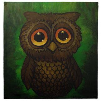 Sad owl eyes napkin