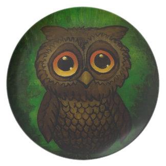 Sad owl eyes plate