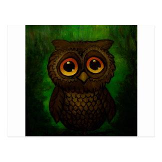 Sad owl eyes postcard