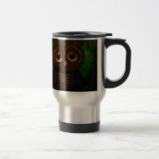 Sad owl eyes travel mug