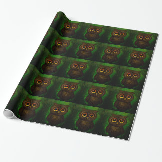 Sad owl eyes wrapping paper