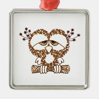 Sad Owl Metal Ornament