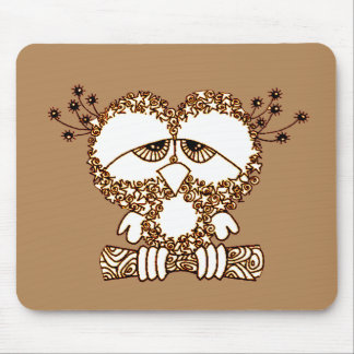 Sad Owl Mouse Pad