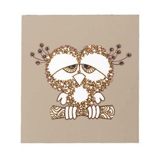 Sad Owl Notepad