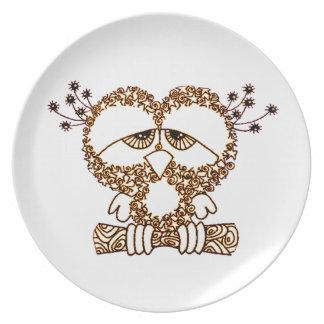 Sad Owl Plate
