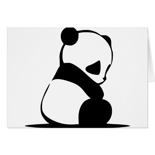 Sad Panda - Cute Baby Panda Bear Card