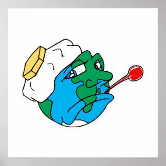 Sad planet print