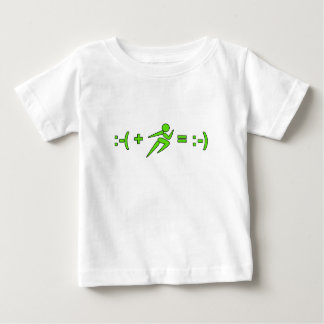 Sad Plus Run Equals Hapiness Funny Gift Baby T-Shirt