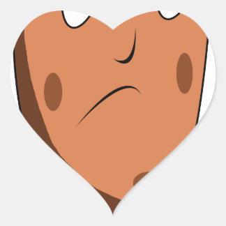 Sad potato heart sticker