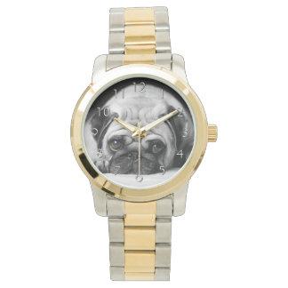 Sad Pug Wrist Watches