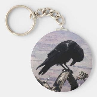 Sad Raven Keychain