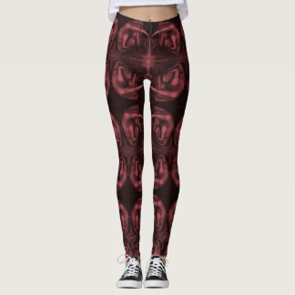 Sad Red Monster Leggings