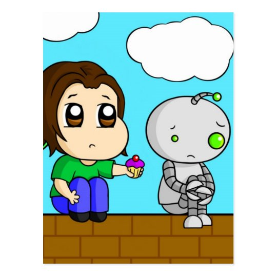 Sad Robot Postcard