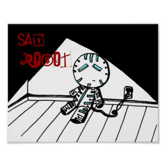 Sad Robot Print