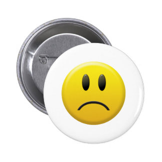Sad Smiley Face 2 Inch Round Button