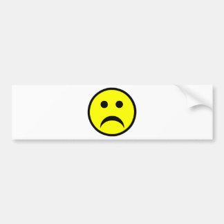Sad Smiley Face Bumper Sticker