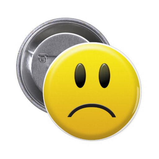 Sad Smiley Face Pins