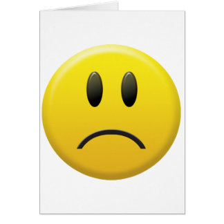Sad Smiley Face Greeting Card