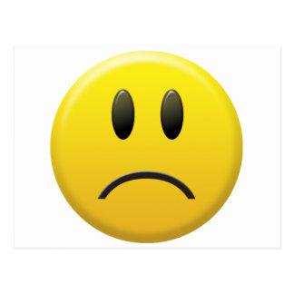 Sad Smiley Face Post Card