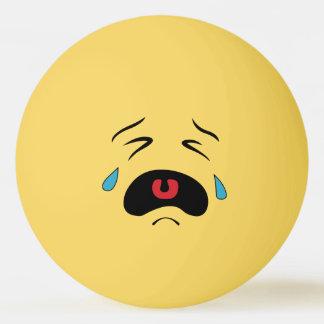 Sad Smiley Ping Pong Ball
