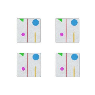 Sad Surfboard Stone Magnets