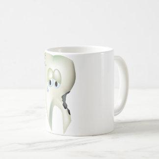 Sad Tooth Cavity Cartoon Funny Dentist Coffee Mug