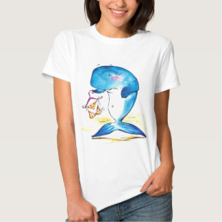 Sad whale with bikini tee shirts