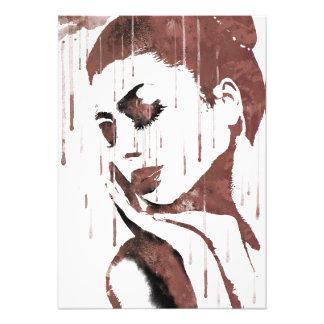 Sad woman photo print