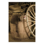 Saddle, Barrel, and Wagon Wheel Posters