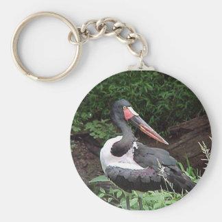 Saddle-Billed Stork Keychain