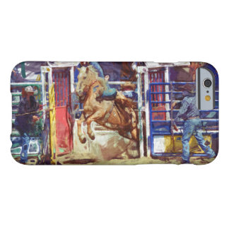 Saddle Bronc Breaking Out of Rodeo Chute w Cowboy Barely There iPhone 6 Case
