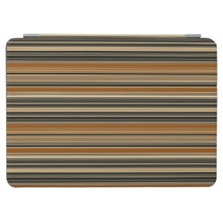 Saddle Brown and Black Striped Pattern