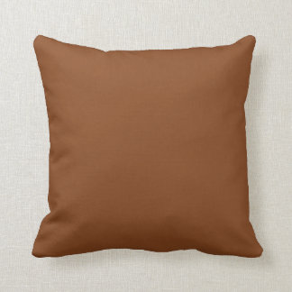 saddle brown throw pillow