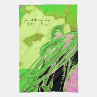 Saddle Electric Pink Quote Kitchen Towel