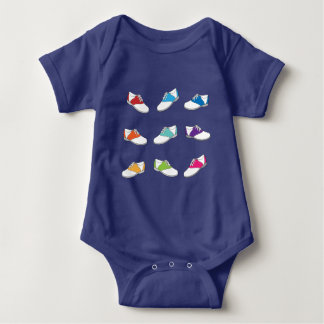 Saddle Shoes in Color Baby Bodysuit