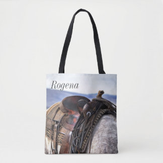 Saddle Up 2 - Horse - Personalize - Tote