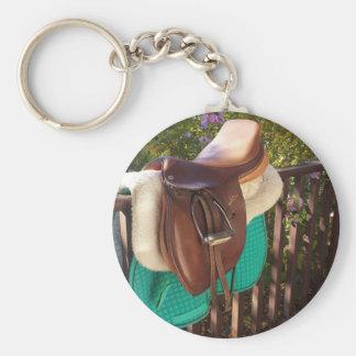 Saddle Up Basic Round Button Keychain
