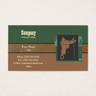 Saddle up business card
