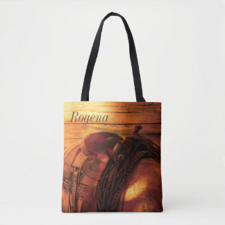Saddle Up - Horse - Personalize - Tote